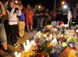 VALENCIA, CA - DECEMBER 01:  A general view of atmosphere as fans pay tribute to actor Paul Walker at crash site on December 1, 2013 in Valencia, California.  (Photo by David Buchan/Getty Images)