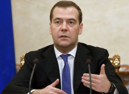 Russia's Prime Minister Dmitry Medvedev during a Cabinet meeting in Moscow, on November 14, 2013. (DMITRY ASTAKHOV/AFP/Getty Images)