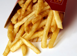 An ax-wielding man took his anger over cold fries out on a drive-through window in France. (Photo via Getty)