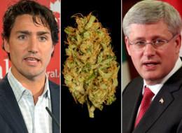 Justin Trudeau backs marijuana legalization. Stephen Harper? Not so much.