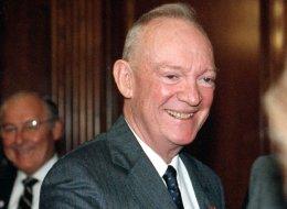 John Eisenhower, son of President Dwight D. Eisenhower, shown in a 1990 photo. (AP Photo)
