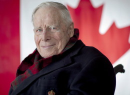 John Matheson, who helped envision the Canadian flag, died on Friday. (CP)