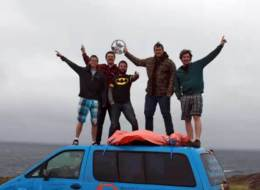 Five UVic engineering students drove right across Canada in 12 days this past summer.