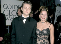 Kate Winslet and Leonardo DiCaprio at the Golden Globe Awards.