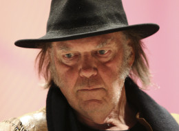 Famed singer Neil Young holds a news conference on Jan. 12, 2014, in Toronto. (Richard Lautens/Toronto Star via Getty Images)