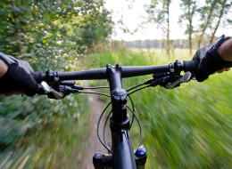 The 22-year-old man suffered an injury after falling on the crossbar of his mountain bike (file picture)