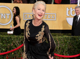 LOS ANGELES, CA - JANUARY 18: Helen Mirren arrives at the 20th Annual Screen Actors Guild Awards at the Shrine Auditorium on January 18, 2014 in Los Angeles, California. (Photo by Dan MacMedan/WireImage)