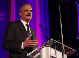 NEW YORK, NY - FEBRUARY 08:  Attorney General of the United States Eric Holder announces that same-sex marriages and opposite-sex marriages will be treated by the Obama administration equally to the extent permissible by law, regardless of the state of residence, at the Human Rights Campaign's 2014 Greater New York gala at The Waldorf=Astoria on February 8, 2014 in New York City.  (Photo by Taylor Hill/FilmMagic)