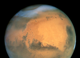 Undated handout view taken by the NASA Hubble Space Telescope of the planet Mars