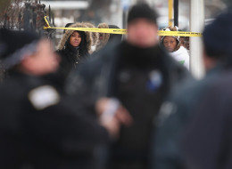 Chicago police say homicides in the city hit near-record level lows in February.