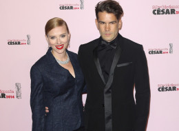 Scarlett Johansson and  Romain Dauriac are reportedly expecting! Here, they arrive for the 39th Cesar Film Awards 2014 at Theatre du Chatelet on Feb. 28 in Paris. (Marc Piasecki/Getty Images)