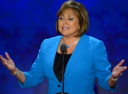 New Mexico Governor Gov. Susana Martinez speaks to the delegation at the Republican National Convention in Tampa, Florida, Wednesday, August 29, 2012. (Harry E. Walker/MCT via Getty Images)