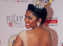 Former Miss Kentucky Djuan Trent has come out as queer. Here, she attends the 2011 Julep Ball during the 137th Kentucky Derby on May 6, 2011, in Louisville, Ky.