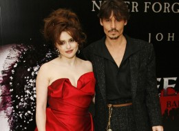 LONDON - JANUARY 10: (UK TABLOID NEWSPAPERS OUT)  Actress Helena Bonham Carter and actor Johnny Depp attends the European Premiere of 'Sweeney Todd' at the Odeon Leicester Square on January 10, 2008 in London, England. (Photo by Gareth Davies/Getty Images)