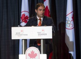 Canadian Olympic Committee, Sport Community Reception at Richmond Oval, British Columbia, Canada on Sept. 27, 2013. Dimitri Soudas executive director of communications.THE CANADIAN PRESS IMAGES/Paul Wright