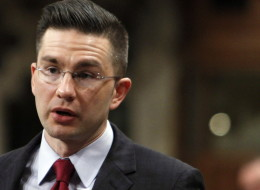 Pierre Poilievre, Minister of State for Democratic Reform, stands in the House of Commons during Question Period on Parliament Hill, in Ottawa Friday, March 28, 2014. THE CANADIAN PRESS/Fred Chartrand