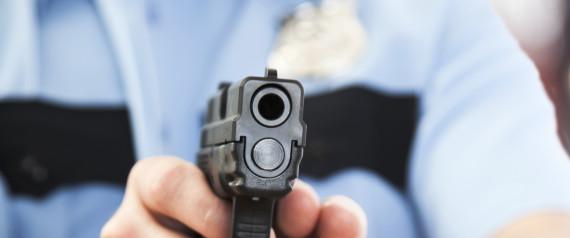 POLICE OFFICER GUN