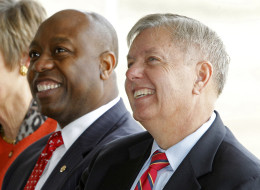 Sens. Tim Scott (R-S.C.) and Lindsey Graham (R-S.C.) skipped an event honoring former U.S. District Judge J. Waties Waring. (Gerry Melendez/The State/MCT via Getty Images)