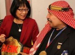Toronto mayoral candidate Olivia Chow has apologized for a recent campaign appearance with WWE legend The Iron Sheik, whose lewd, racist, homophobic, and sexist tweets have raised eyebrows in recent years. (Twitter)