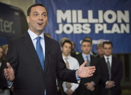Progressive Conservative Leader Tim Hudak says he would reduce the number of public sector workers in Ontario by 100,000 if he wins the June 12 election, and do it without affecting