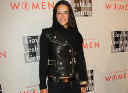 Michelle Rodriguez attends the L.A. Gay & Lesbian Center's 2014 An Evening With Women at The Beverly Hilton Hotel on May 10, 2014, in Beverly Hills, California.