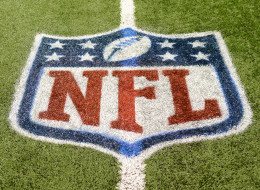 DETROIT, MI - NOVEMBER 24:  A detailed view of an NFL shield logo painted on the field before the game between the  Detroit Lions and the Tampa Bay Buccaneers at Ford Field on November 24, 2013 in Detroit, Michigan. The Buccaneers defeated the Lions 24-21.  (Photo by Mark Cunningham/Detroit Lions/Getty Images)