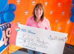 Kelsie Hodgin, a 19-year-old mother and sales rep with Bell Aliant, has won $7 million in the Atlantic Lottery.