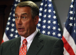 House Speaker John Boehner (R-Ohio) speaks to the media on Capitol Hill, May 20, 2014. (Photo by Mark Wilson/Getty Images)