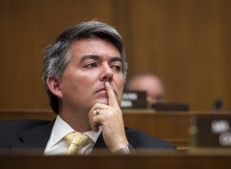Rep. Cory Gardner, R-Colo., listens during the House Oversight and Investigations Subcommittee hearing in Washington. (Photo by Bill Clark/Getty Images)