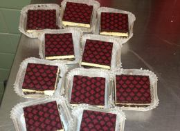 Maple leaf-branded Nanaimo bars are among the offerings at Canadian Sweets and Treats in Washington, D.C.