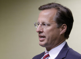 RICHMOND, VA - JUNE 17:  Tea Party challenger and economics professor Dave Brat speaks to the press at the Midlothian Rotary Club breakfast at the Double tree Hotel, June 17, 2014 in Richmond, Virginia. Brat beat Eric Cantor in the GOP primary for Virginia's 7th Congressional district. (Photo by Jay Paul/Getty Images)