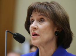 Former Internal Revenue Service official Lois Lerner exercises her Fifth Amendment right not to speak about the IRS targeting investigation before the House Oversight and Government Reform Committee during a hearing in the Rayburn House Office Building March 5, 2014 in Washington, DC. (Photo by Chip Somodevilla/Getty Images)