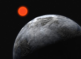 Planetary system around the red dwarf, Gliese 581, is pictured in this artist's impression. The illustration shows what astronomers once thought to be the most earth-like planet found outside our solar system. Image supplied by the ESO (European Southern Observatory) on April 25, 2007.