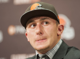 Cleveland Browns draft pick Johnny Manziel answers questions during a press conference at the Browns training facility on May 9, 2014 in Cleveland, Ohio. Manziel was selected in the first round with the 22nd pick. (Photo by Jason Miller/Getty Images)