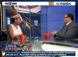 Kimberle Crenshaw and MSNBC guest host Michael Eric Dyson discussed immigration on July 10.