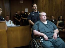 James Woetzel, the driver accused of plowing into a farmers' market in Hawthorne, killing one and injuring two others, appears in Superior Court in Paterson, N.J., Wednesday, Aug. 13, 2014, to face a vehicular homicide charge. (AP Photo/Northjersey.com, Tyson Trish, Pool)