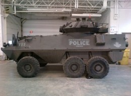 A Cougar armoured vehicle belonging to the New Glasgow, N.S. police department. Police in Windsor, Ont. will adopt a similar vehicle next month.