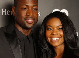Miami Heat's Dwyane Wade and Gabrielle Union attend the