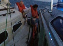 The U.S. Coast Guard released a photo of Bogdan and Elizabeth Makowski's rescue on Aug. 30.
