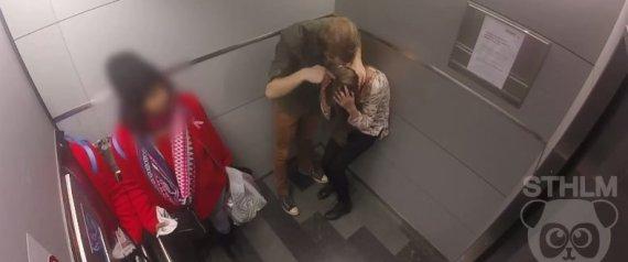 n EXPERIMENTO SOCIAL NA SUCIA AGRESSO DE MULHERE large570 - Experimento social em elevador expõe tolerância em relação à agressão de mulheres (VÍDEO)