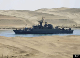 Vessels entered the Suez Canal earlier