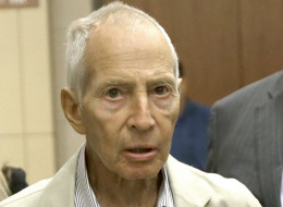 New York City real estate heir Robert Durst leaves a Houston courtroom Friday, Aug. 15, 2014. Charged with criminal mischief for urinating on candy at a Houston drug store, Durst's hearing has been reset for next month. (AP Photo/Pat Sullivan)