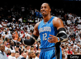 ATLANTA, GA - APRIL 22: Dwight Howard #12 of the Orlando Magic against the Atlanta Hawks during Game Three of the Eastern Conference Quarterfinals in the 2011 NBA Playoffs at Philips Arena on April 22, 2011 in Atlanta, Georgia.