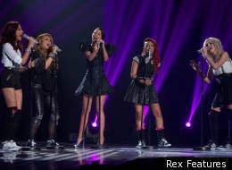 Little Mix sang with their mentor Tulisa Contostavlos in the 'X Factor' final