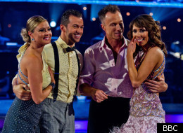 Strictly Come Dancing semi-finalists Holly Valance and Alex Jones say goodbye