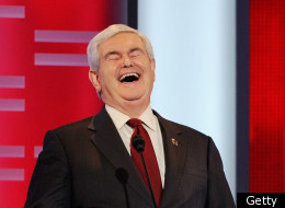 Former speaker of the House Newt Gingrich reacts during the ABC News GOP Presidential debate on the campus of Drake University on December 10, 2011 in Des Moines, Iowa. (Getty)