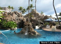 Take a dip in one of the nine Wailea Canyon Activity Pool at the Grand Wailea Resort.