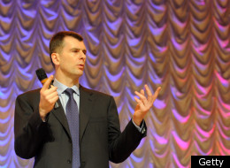 Russian billionaire Mikhail Prokhorov gestures as he addresses to his supporters in Moscow, on December 15, 2011. (Getty)