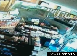 Police in Tennessee say a man crashed a pickup truck into a convenience store in an attempt to kill a woman.