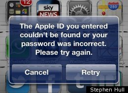 Apple IDs are not being recognised by iTunes